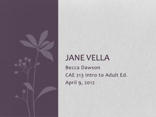 Jane  Vella