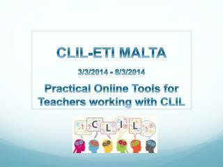 CLIL-ETI MALTA 3/3/2014 - 8/3/2014