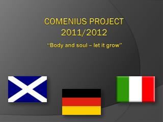 COMENIUS PROJECT 2011/2012