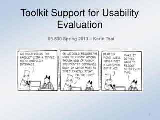 Toolkit Support for Usability Evaluation