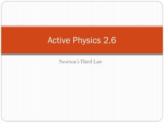Active Physics 2.6