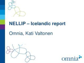 NELLIP –  Icelandic report