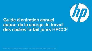 Guide d'entretien annuel  autour de la charge de travail  des cadres forfait  jours HPCCF