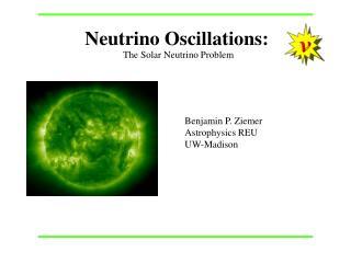 Neutrino Oscillations: