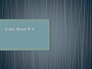Vidhi  Bhatt P-4