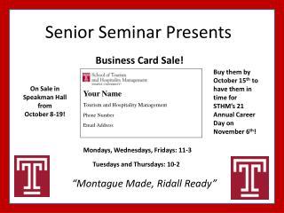 Senior Seminar Presents