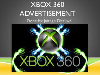 Xbox 360 advertisement