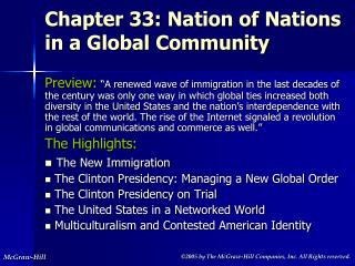 Chapter 33: Nation of Nations in a Global Community