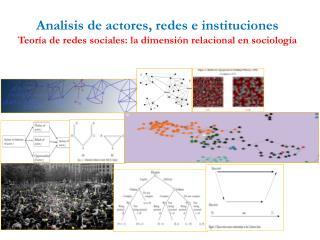Analisis de actores, redes e instituciones