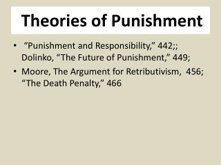 Theories of Punishment