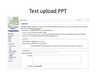 Test  upload  PPT