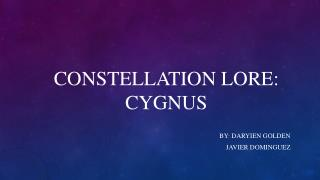 Constellation Lore: Cygnus