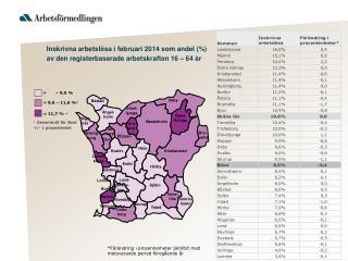1  Genomsnitt för länet  +/- 1 procentenhet