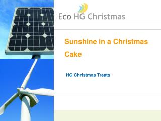 Sunshine in a Christmas Cake