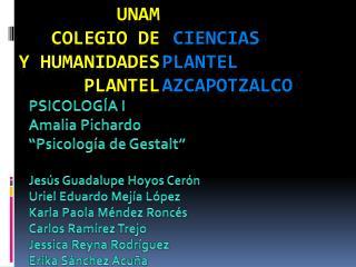 UNAM COLEGIO DE      Y HUMANIDADES  PLANTEL