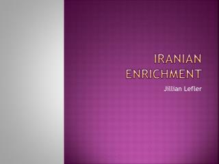 Iranian Enrichment