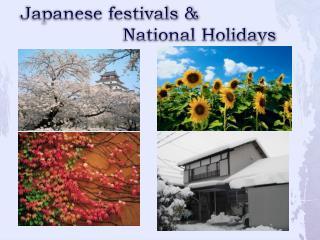 Japanese festivals &  National Holidays