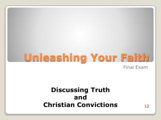 Unleashing Your Faith
