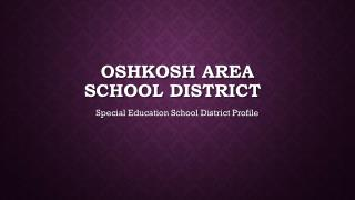 OSHKOSH AREA SCHOOL DISTRICT