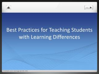 Best Practices for Teaching Students with Learning Differences