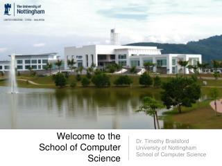Welcome to the  School of Computer Science