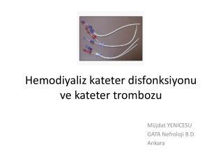 Hemodiyaliz  kateter disfonksiyonu  ve  kateter trombozu