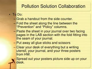 Pollution Solution Collaboration
