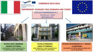 PARTNERSHIP: HUNGARY, ITALY, ROMANIA AND TURKEY