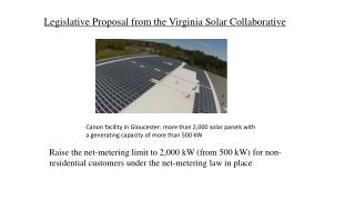 Legislative Proposal from the Virginia Solar Collaborative