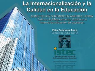 La Internacionalización y la Calidad en la Educación