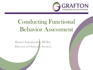 Conducting Functional Behavior Assessment