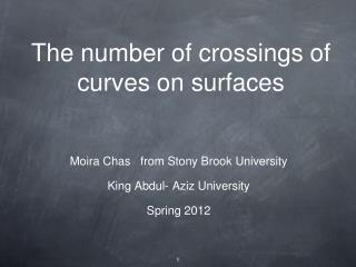 The number of crossings of curves on surfaces