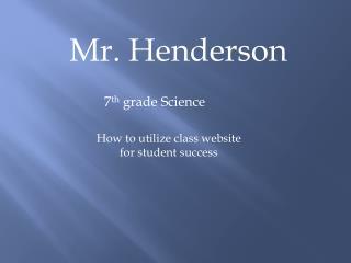 Mr. Henderson