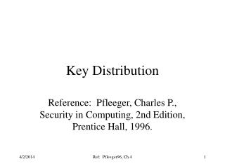 Key Distribution