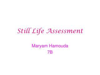 Still Life Assessment