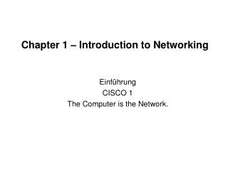 Chapter 1 � Introduction to Networking