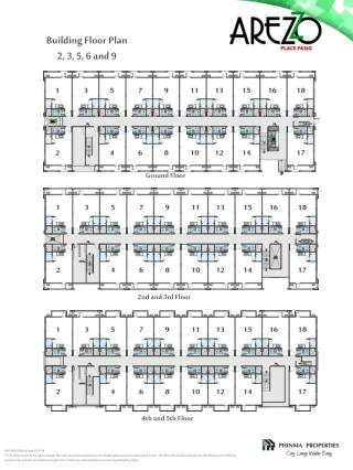 Building Floor Plan 2, 3, 5, 6 and 9