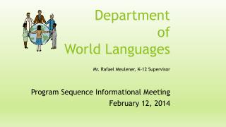 Department  of  World Languages Mr. Rafael Meulener, K-12 Supervisor