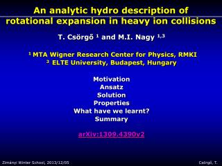 An analytic hydro description of  rotational expansion in heavy ion collisions