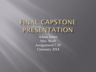 Final Capstone Presentation