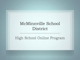 McMinnville School District