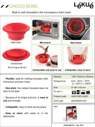 Bowl to melt chocolate in the microwave or bain-marie