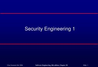 Security Engineering 1