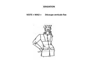 VESTE «MAO » Découpe  verticale fixe