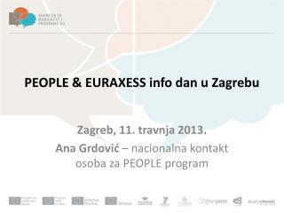 PEOPLE & EURAXESS info  dan  u  Zagrebu