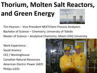 Thorium, Molten Salt Reactors, and Green Energy