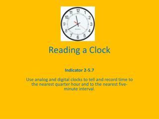 Reading a Clock
