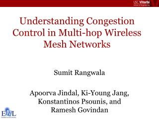 Understanding Congestion Control in Multi-hop Wireless Mesh Networks