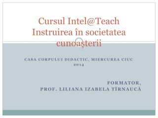 Cursul Intel@ Teach Instruirea în societatea  c unoașterii