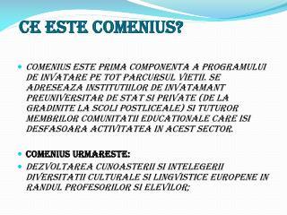 Ce este  Comenius?